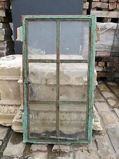 Joblot 8 Vintage Windows Reclaimed Green Cast Iron Opening Handle Detail #W23