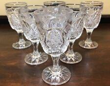 "6 EAPG 4 3/8"" Diamond & Star Cordial Goblets"