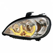 """""""Chrome"""" Freightliner Columbia Projection Headlight w/ Dual LED Light - Driver"""