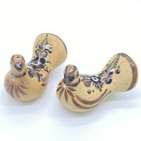Pair of Vintage Hand Painted Mexican Pottery Dove Bird Folk Art Figurine
