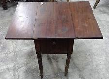 Tavolino antico da lavoro in piuma di mogano epoca Luigi Filippo Francia