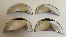 1958-1970 Chevrolet Headlight Headlamp Half Moon Chrome Covers 5 3/4 Set of 4