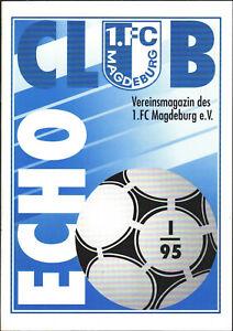 OL 94/95 1. FC Magdeburg - CLUB ECHO 1/1995