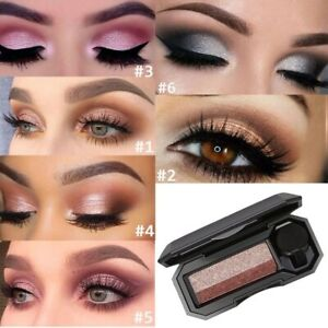 Double Color Matte Eyeshadow Makeup Palette Waterproof Glitter Shimmer Cosmetics