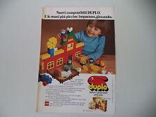 advertising Pubblicità 1979 LEGO DUPLO