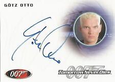 "James Bond 50th Anniversary: A208 Gotz Otto ""Stamper"" Autograph Card"