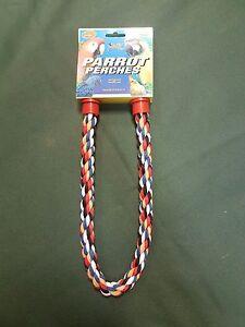 "Parrot Parakeet Bird Rope Bendable Perch 26"""