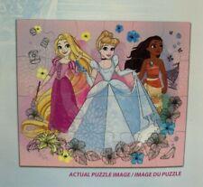Disney Princess 24 Piece Jigsaw Puzzles Cinderella Rapunzel Moana New Sealed