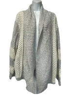 torrid gray White knit open front cardigan size 3