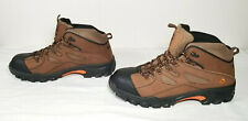 New Wolverine Men's Brown Leather Hudson Steel Toe Boots Astm F2413-11 Sz 11.5 M