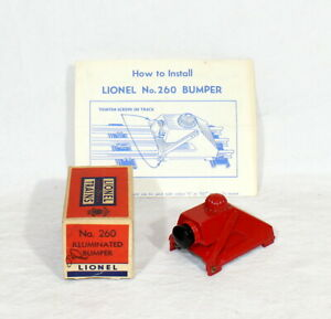 Postwar Lionel #260 Illuminated Track Bumper~w/Nice OB+Instructions