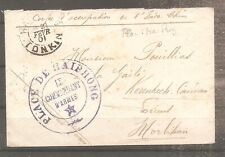 LETTRE INDOCHINE FRANCE COLONIE 1901 OBLITERE USED HAIPHONG COMMANDANT ARMES