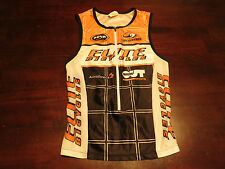 Sugoi Womens Triathlon Elite Sz S P Bike Cycling Jersey Tank Top Orange Race