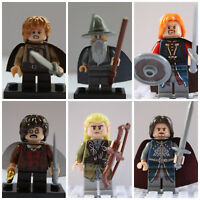 Lord Of The Rings Hobbit Mini Figures Gandalf,Frodo,Aragorn,Lego las,Samwise
