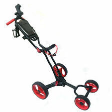 Hurricane Golf 4 Wheel Push Cart Push Cart Black/Red