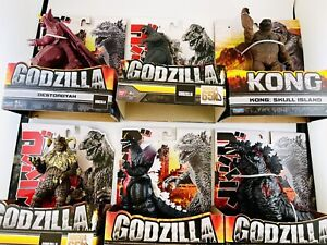 Lot Of 6 Godzilla And Kong Bandai 6.5 Inch Figures 65th Anniversary Toy Sale NEW
