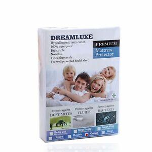 Dreamluxe Premium Hypoallergenic Waterproof Terry Cotton Mattress Protector - Vi
