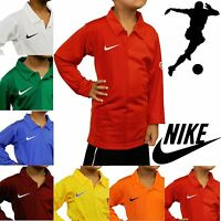 Nike Kids Long Sleeve Football Jerseys Rugby Tops Boys Sport T-Shirts Polo Shirt