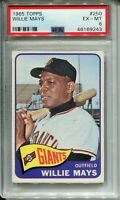 1965 Topps #250 WILLIE MAYS - Giants - HOF - PSA 6 - EX-MT - 46169243 - (SCA)