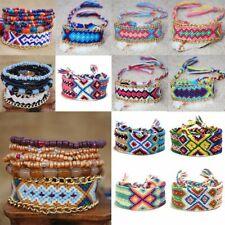 Handmade Bohemian Woven Friendship Bracelet Braided Wristband Women Men Jewelry