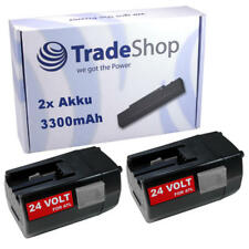 2x batería 24v 3300mah para AEG milwaukee bbh24 bxl24 bxs24 mxl24 sh04-16 sh04-17 MX