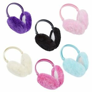 Girls Winter Fluffy Snow Outdoor Thick Warm Earmuffs Headband Kids Ear Warmers