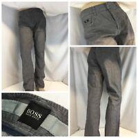 Hugo Boss Pants 36x34 Gray 100% Cotton Flat Front R Fit Made Turkey YGI F9-603