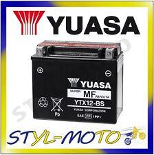 YTX12-BS BATTERIA ORIGINALE YUASA CON ACIDO VESPA GTS 300 SUPER SPORT 2012