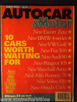 AUTOCAR & MOTOR Magazine 12/6/91 10 Cars Worth Waiting4