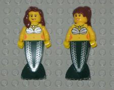 Lego Mermaid MINIFIGURES Women Lady Females Girls 2 Lego Mermaids Minifigs Toys