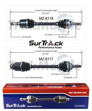 Mazda Protege5 99-03 Pair of Front CV Axle Shafts SurTrack Set Automatic Transm.