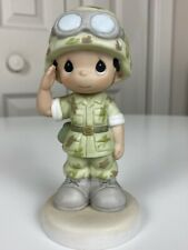 New ListingPrecious Moments Proud To Be An American ceramic figurine *Support Our Troops*