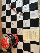 **Formula One michael schumacher signed Helmet Full Size COA, And flag  And Pass