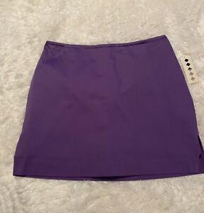 "NWT Women's Purple Stretch Golf Tennis Skort Size 10P Petite Length 15"""