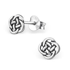 925 Sterling Silver Celtic Knot Stud Earrings (Design 2)