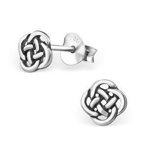 925 Sterling Silver Celtic Knot Stud Earrings (Design 2)