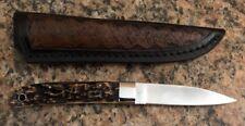 Geo. Trout Integral  Stiff Horn Knife w/ Sheath