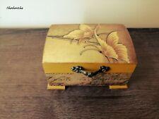 Wooden jewelry keep sake box,Shabby chic decoupage box,Butterfly memory box