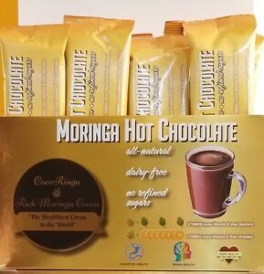 Moringa Hot Chocolate, Healthiest Cocoa in the World, Hot Cocoa, Vegan (10 pack)
