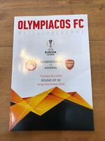 Olympiacos  v  Arsenal  20/2/20  Europa League Round of 32 Official programme