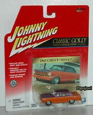 Johnny Lightning Classic Gold 1963 Chevrolet Nova 63 Chevy Sport Coupe 1:64 T