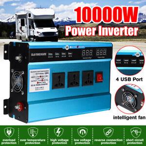 10000W Car Power Inverter 48V to 220V Converter Modified Sine Wave 4 USB Port