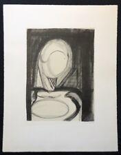 Irmel Droese, Zufluchtsort, Lithographie, 1987, handsigniert und datiert