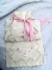 Vintage Hand Needle Point Hosiery Bag 5 X 23 1/2 inches Gorgeous!
