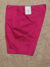 Worthington- Womens Sateen Shorts !   Size  : 18 , color- Polynesian Rose
