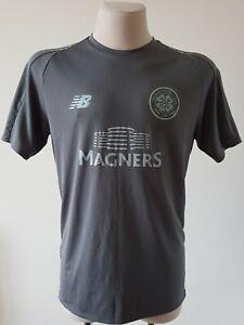 Celtic top training football New Balance Gray shirt