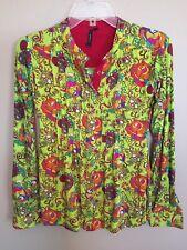 Sepia Shirt Bright With Skulls Small