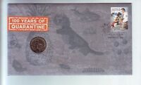 2008 100 Years of Quarantine  $1 Coin Stamp Set PNC FDC