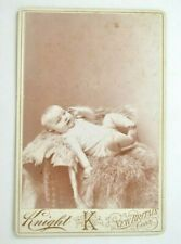 Vintage portrait photograph of infant on fur pelts, Knight K, New Britain, CT