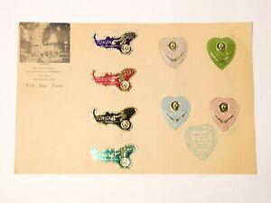 8 x 1964 Tonga Friendly Islands Commemoration PPSEAWA FDC Metallic Stamps #1